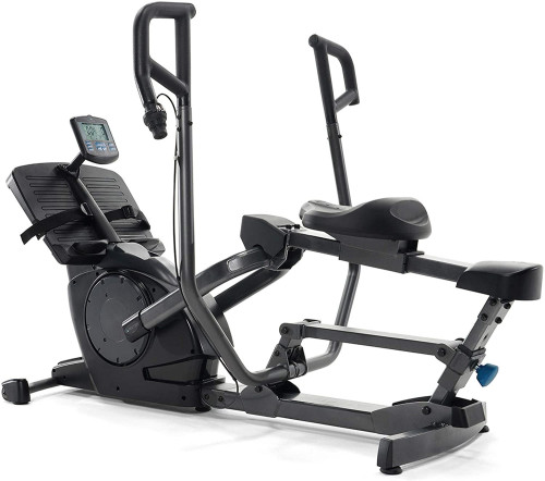 Power10 Rower with 2-Way Magnetic Resistance Elliptical Motion – Indoor Rowing Machine w/Bluetooth HRM, Move App- Free Classes & Coaching