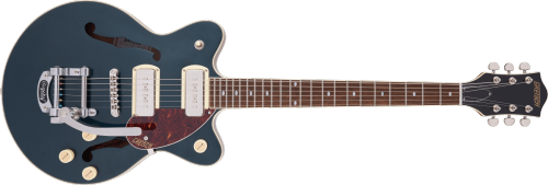 G2655T-P90 STREAMLINER™ CENTER BLOCK JR. DOUBLE-CUT P90 WITH BIGSBY®, LAUREL FINGERBOARD, TWO-TONE MIDNIGHT SAPPHIRE AND VINTAGE MAHOGANY STAIN