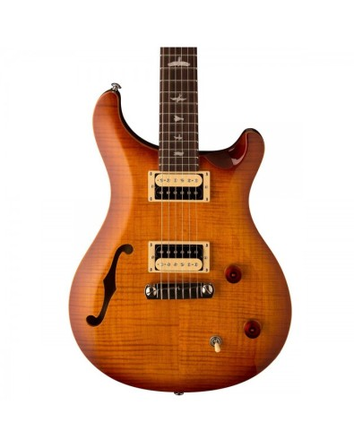 PRS 2017 SE Custom 22 Semi-Hollow Electric Guitar - Vintage Sunburst