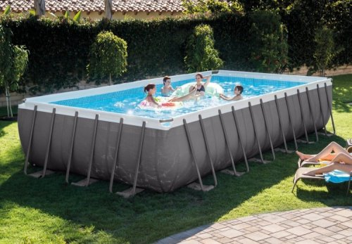 24FT X 12FT X 52IN ULTRA FRAME RECTANGULAR POOL SET WITH SAND FILTER PUMP, 28361EH