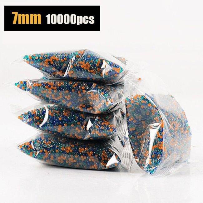 5Packets 10000pcs 7mm Coloured Gel Balls