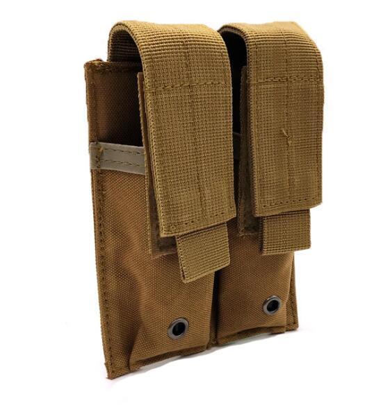 Tactical Molle Belt Double Pistol Magazine Pouch