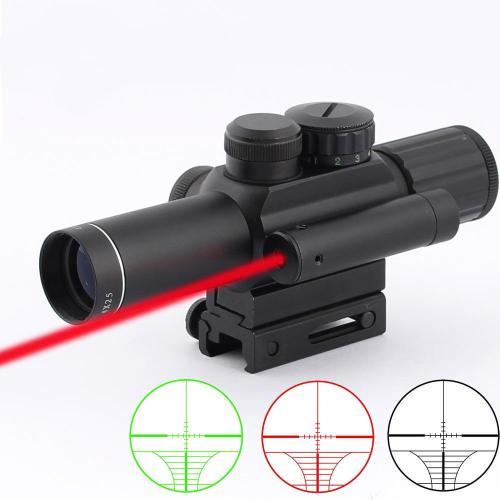 M6 4x25 Tactical Illuminated Riflescope w/ Red Laser