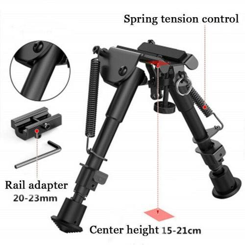 Adjustable 6'' to 9'' Metal Bipod + Adapter