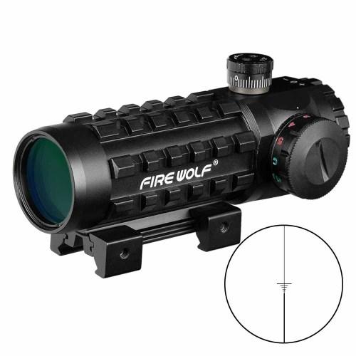 Fire Wolf 3x28 Green Red Dot Cross Sight Scope 11/20mm Rail