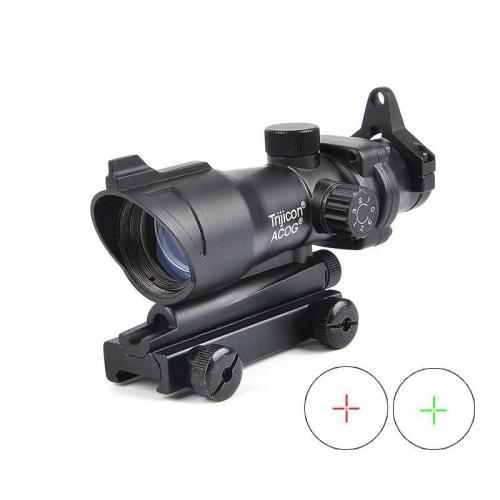 Trijicon ACOG 1X32 Red Green Dot Sight Illuminated Optical Rifle Scope