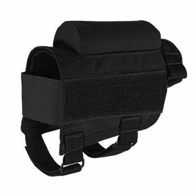 Tactical Rifle Buttstock Cheek Rest Riser Ammo Pouch Holder