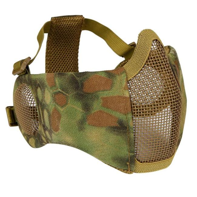 V1 Steel Mesh Tactical Protective Mask with Ears Protection
