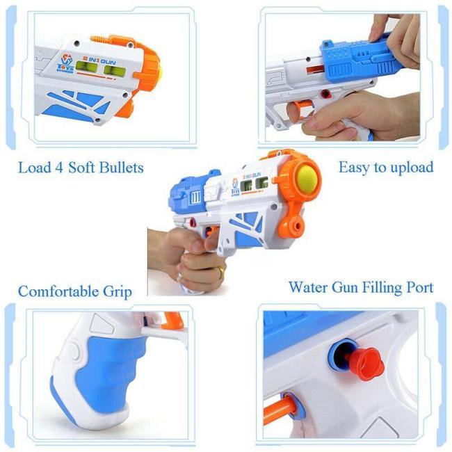 JiaYi Magic War Multi-functional Soft Bullet Water Toy Gun 2 in 1