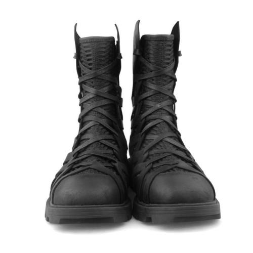 Lace Up British High Top Shoes Military Tactical Chukka Boots