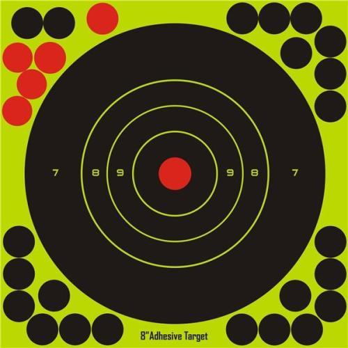 10Pcs Splatterburst Reactive Adhesive Fluorescent Targets 8x8inch