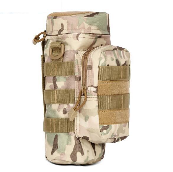 Tactical Molle Water Bottle Pouch Kettle Waist Shoulder Bag