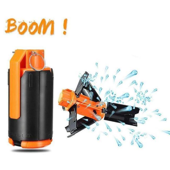Gel Ball Grenade Toy Can Launch Backyard BOOM