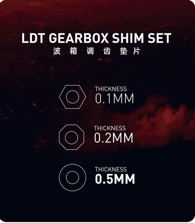 LDT Gearbox Shim Set