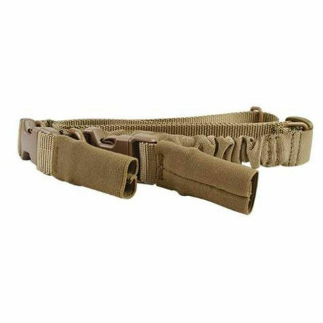Adjustable Tactical Two Point Gun Sling with Bungee Cord