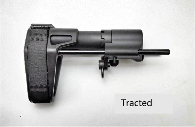 PDW Pistol Brace Buttstock for M4 Jingji SLR 556 416 FTM