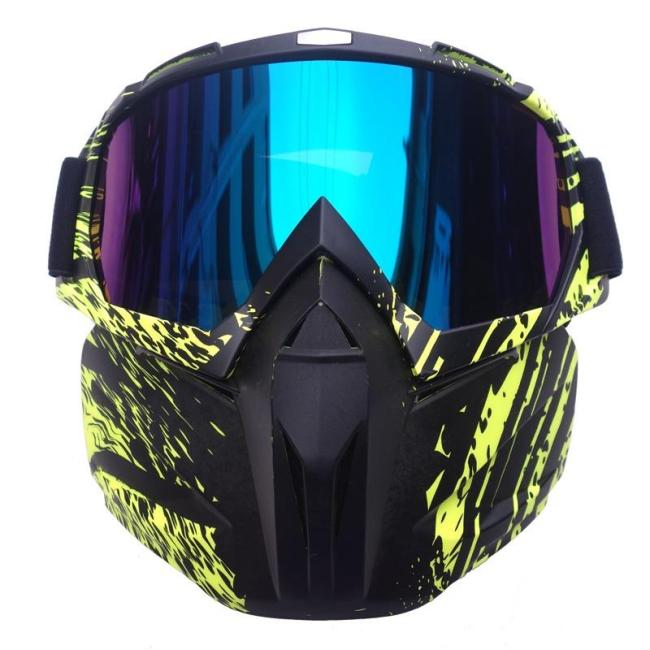 Retro Harley Tactical Face Mask with Detachable Google