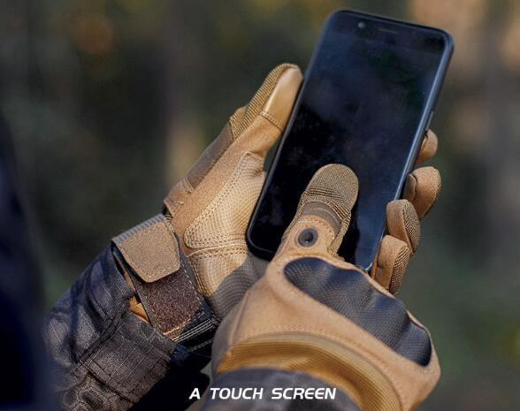 B8 Touch Screen Anti-Skid Hard Knuckle Full Finger Tactical Gloves