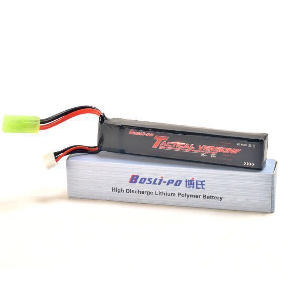 Bosli-po Lipo Battery with Tamiya Plug for alpha king, hk416d