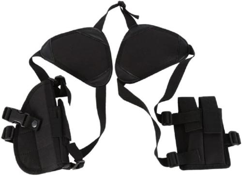 Universal Horizontal Shoulder Armpit Holster Double Mag Pouch