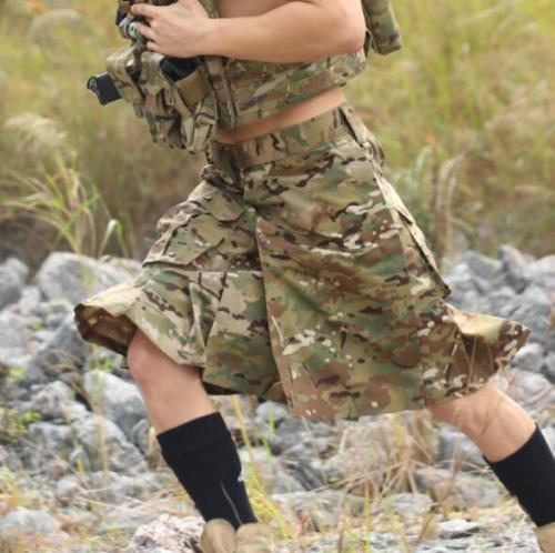 Tactical Camouflage Scottish Kilt