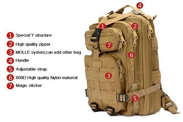 3P Military Tactical Backpack 35L
