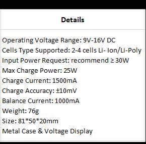 BC-4S15D Battery Balance Charger & Voltage Detector