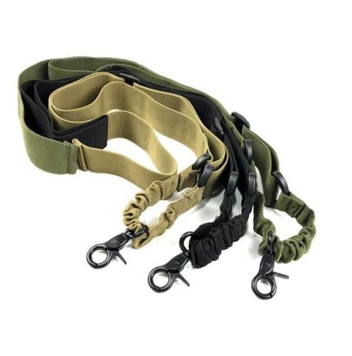 Tactical Multifunction Single Point Sling with Bungee Cord