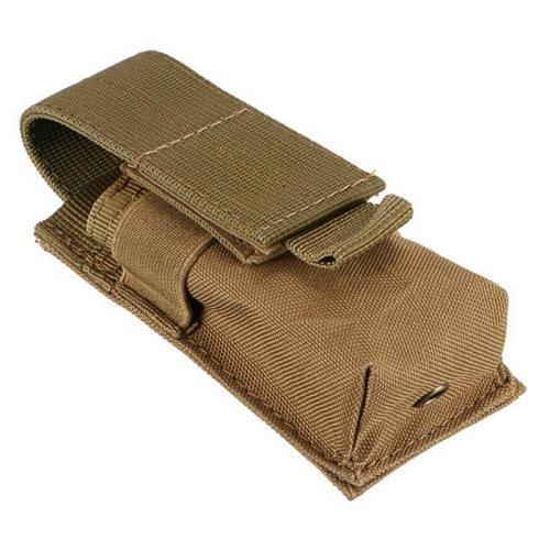 Tactical Nylon Flashlight Holster Molle Magazine Pouch