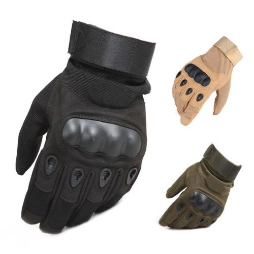 Military Rubber Hard Knuckle Full Finger Tactical Gloves