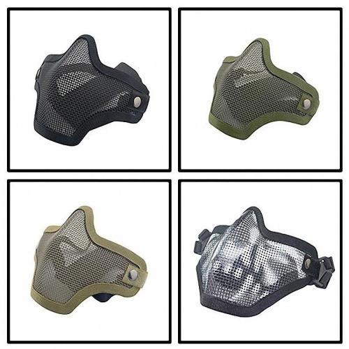 Gel Blaster Skirmish Equipment Strike Steel Half Face Tactical Mask