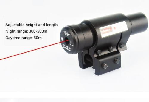 7-23mm Rail Universal Metal Adjustable Red Beam Laser Sight