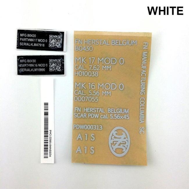 Gel Blaster Metal Sticker Decals Set
