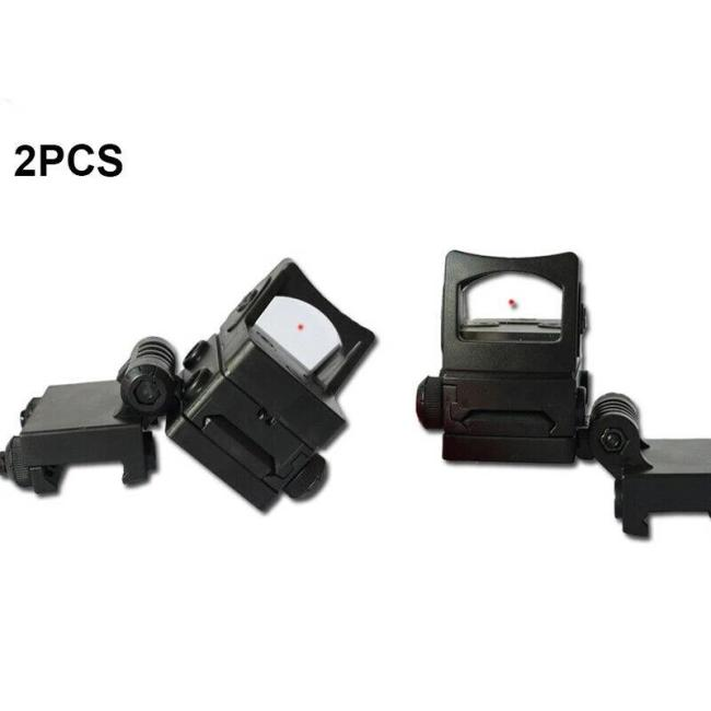 2Pcs Red Dot Holographic Sight Scope Side Aiming