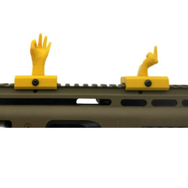 Gel Blaster Sign Language Gesture Sight