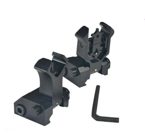 Flip Up Front & Rear 21mm Rails Crab Iron Sight Kit