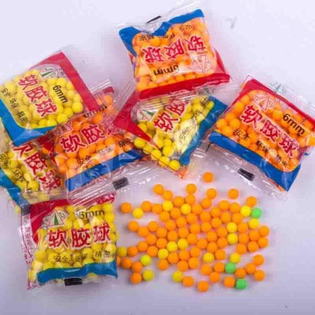 10 Packs 6MM Soft Rubber Bullets
