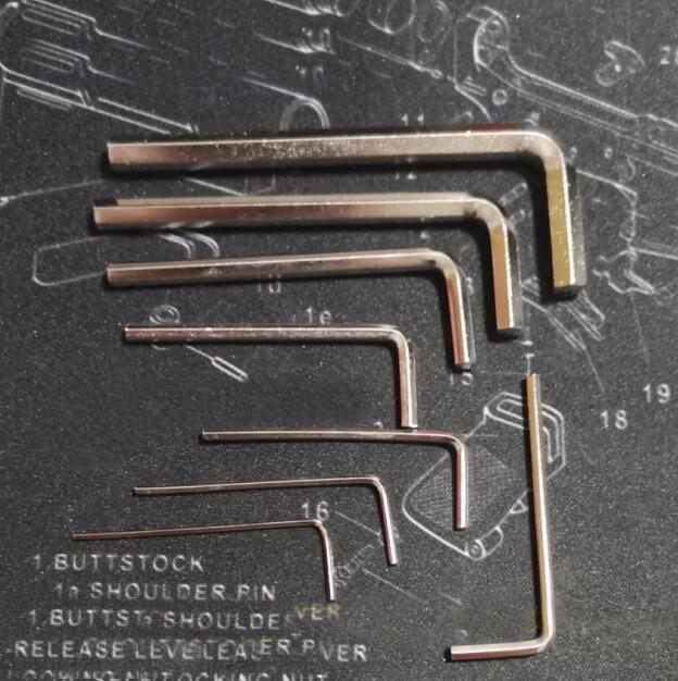 8Pcs Gel Blaster Allen Keys Hexagon Wrench 1.27-6mm