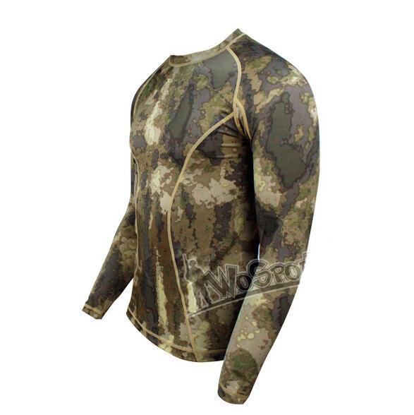 WST Camouflage PRO Tights Quick-Drying High Elastic Long-Sleeved T-shirt