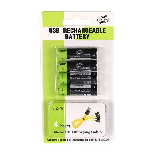 ZNTER USB Rechargeable Battery 1200mah 1.5v