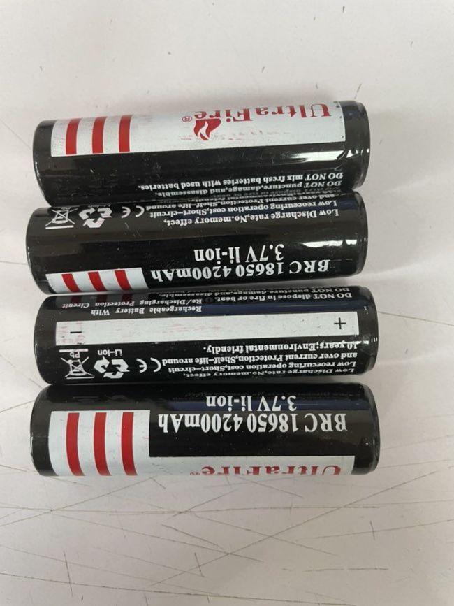Ultrafire 18650 3.7v 4200mah Rechargeable Battereis 4Pcs