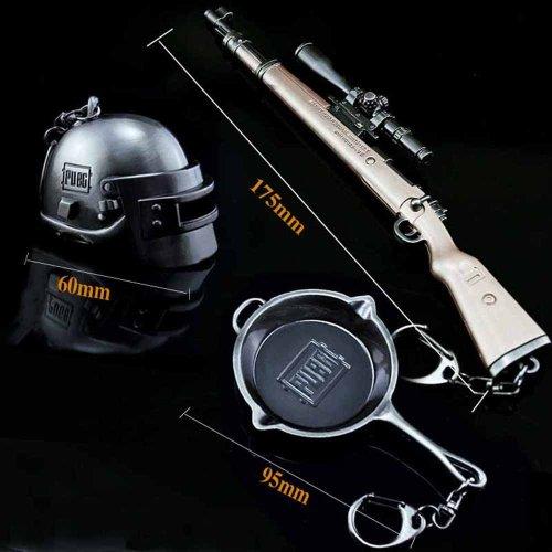 PUBG Helmet Frying Pan 98k Keychain Set