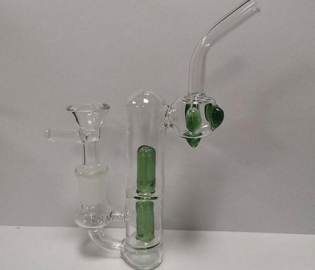 6  Portable Collectibles Green Glass Hookah Bong Water Smoking Pipe