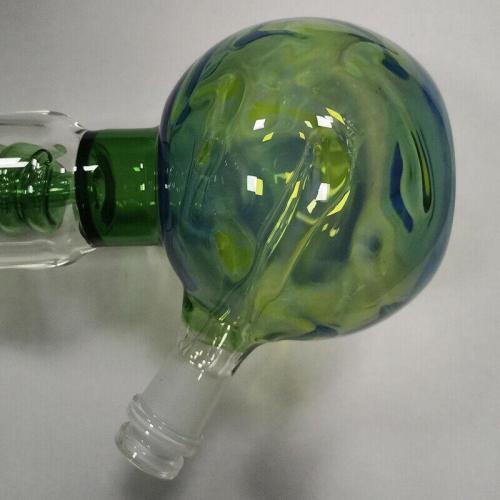 10'' Green Spherical Base Smoking Water Pipe Hookah Glass Bong