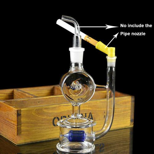 Portable Mini Windmill Hookah Water Pipe Tobacco Smoking Glass Bong