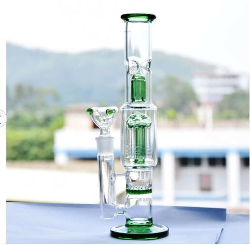 10  Long Straight Glass Vase Bottle Hookah Shisha Smoking Bongs Set