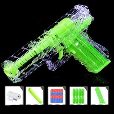 Glow in The Dark Glock Shell Ejecting Nerf Gun