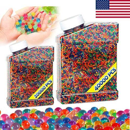2 Bottles Colorful Gel Balls 7-8mm 60000Pcs (US Stock)