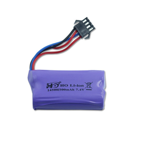 SM-4P Plug Li-ion Battery 7.4v 500mah