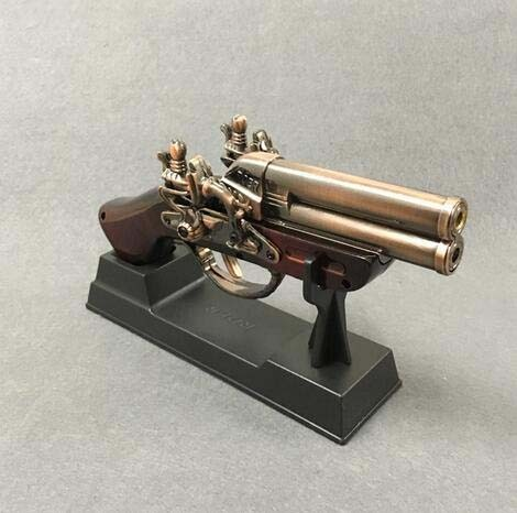 Antique Pistol Gun shaped Lighter with stand